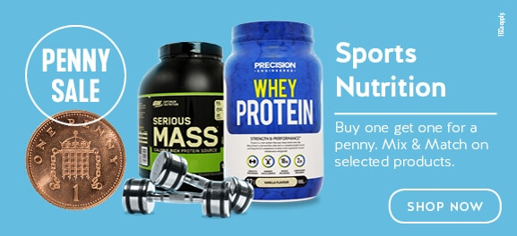 Buy One Get One for a Penny on Selected Sports Nutrition