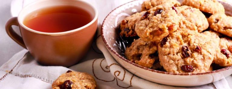 Glutenvrije haverkoekjes met walnoot en rozijnen maken