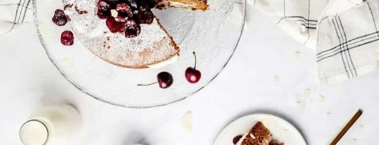 Vegan Cherry Bakewell Cake