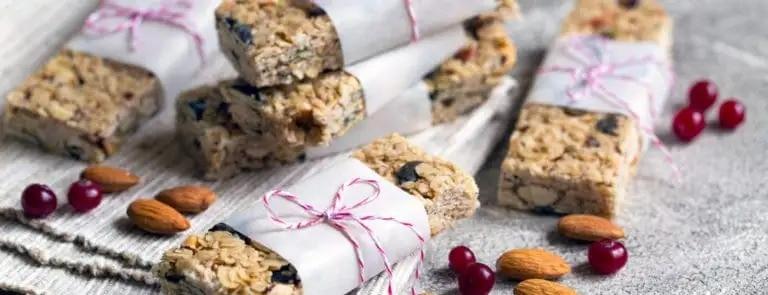 Vegan Cranberry & Almond Breakfast Bars