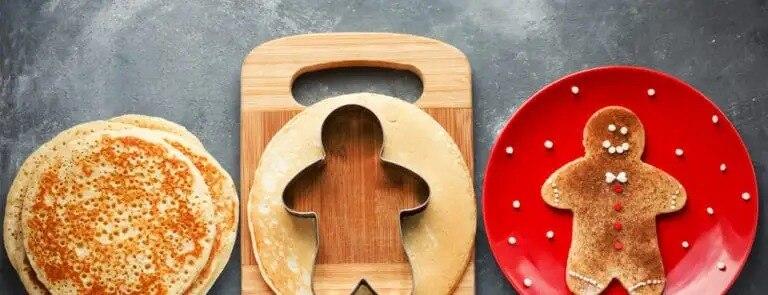 Festive gluten-free cinnamon pancakes