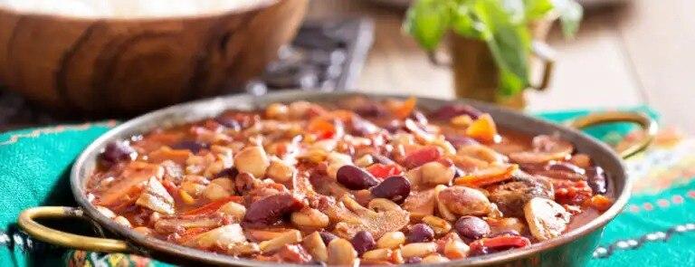 Low cholesterol diet recipes: Vegan 3 Bean Chilli