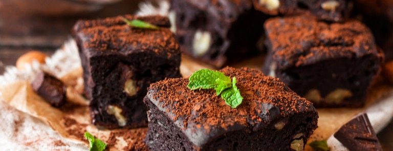 Vegan Chocolate, Walnut & Sea Salt Brownies