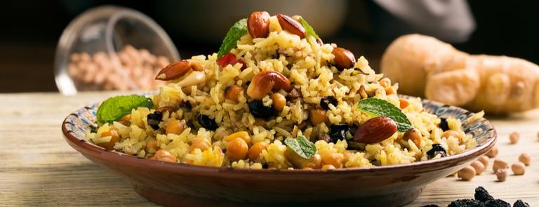 almond pilaf rice