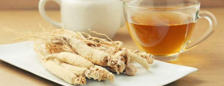 ginseng root and tea