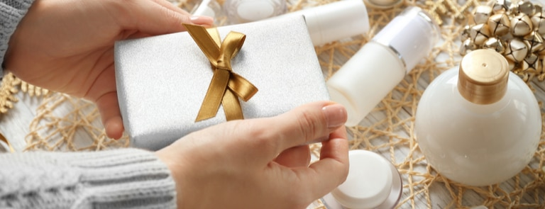 person giving a present