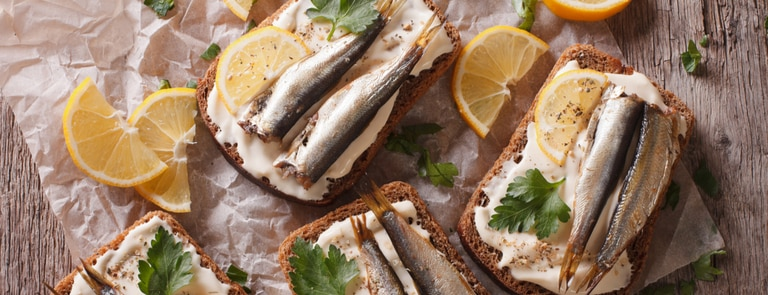 sardine and cream cheese sandwiches