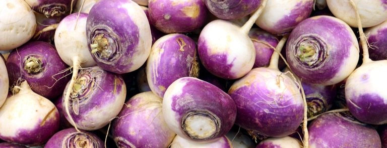 turnips on wooden background
