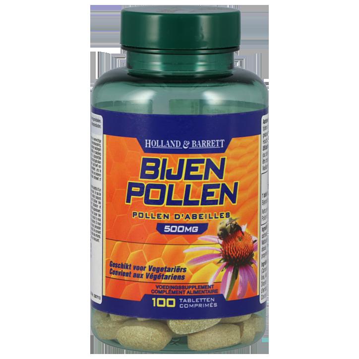 Holland & Barrett Bijenpollen, 500mg (100 Tabletten)