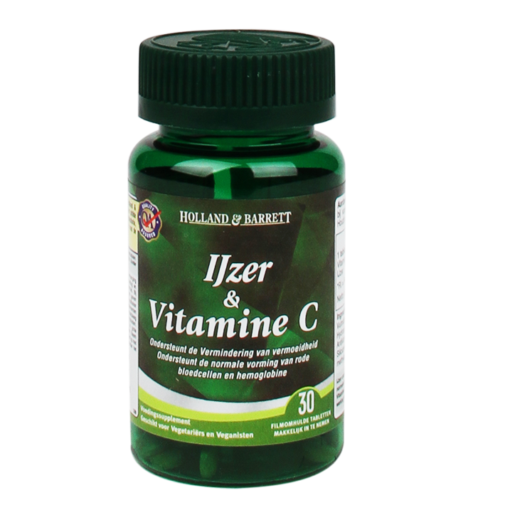Holland & Barrett IJzer + Vitamine C (30 Tabletten)