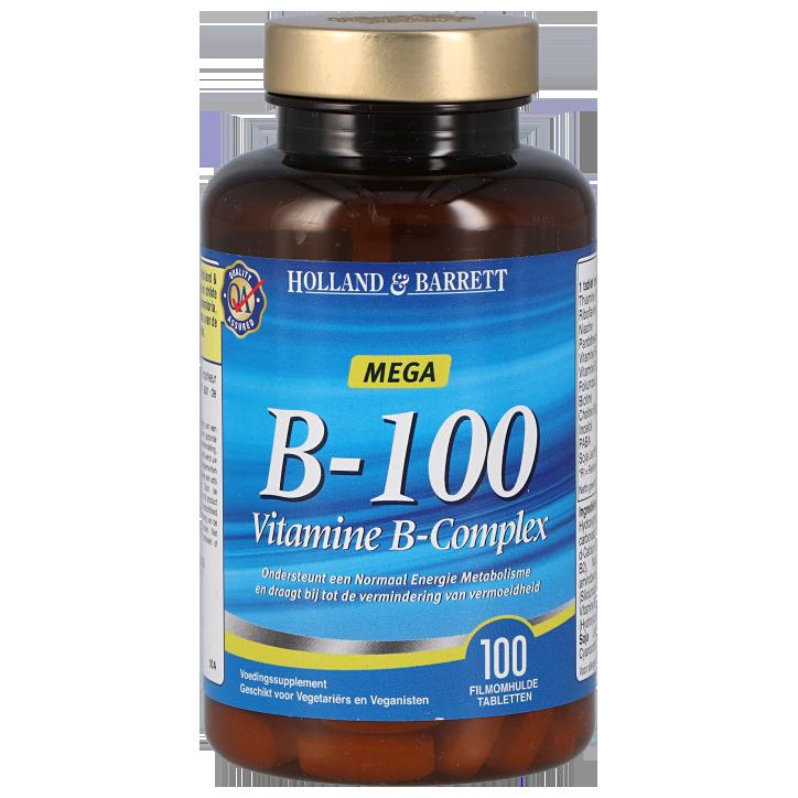 Holland & Barrett Vitamine B100 Complex (100 Tabletten)