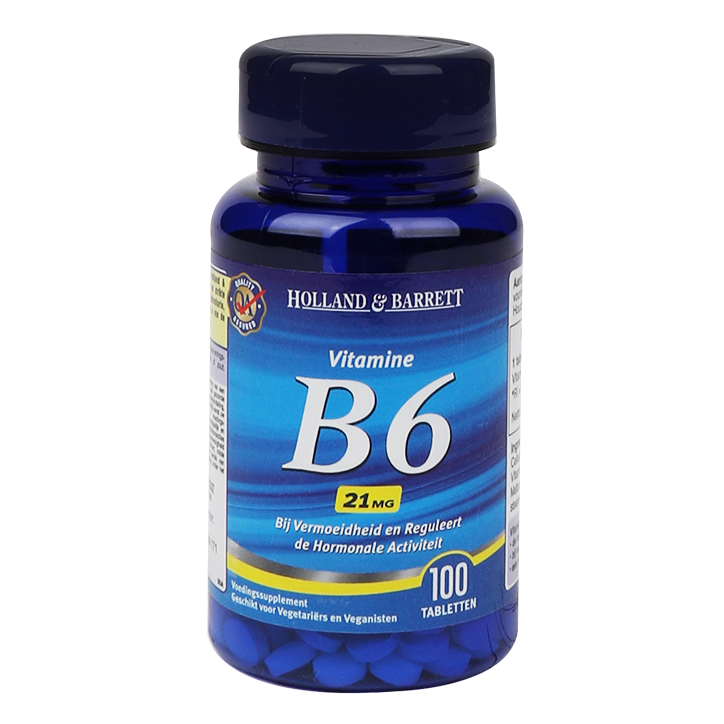 Holland & Barrett Vitamine B6, 21mg (100 Tabletten)