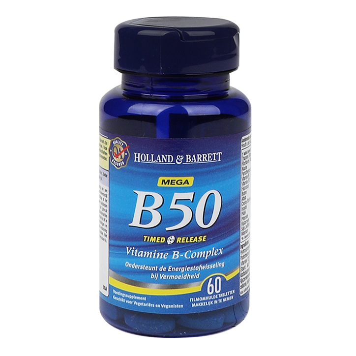 Holland & Barrett Vitamine B50 Timed Release (60 Tabletten)