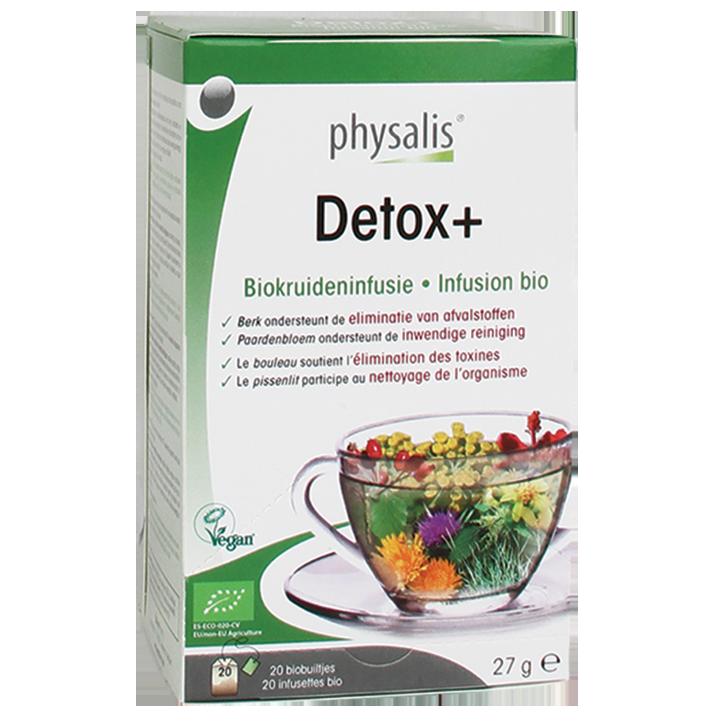 Physalis Kruideninfusie Detox+ Bio (20 Theezakjes)