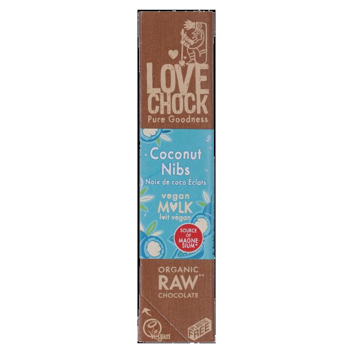 Lovechock Reep Raw Chocolate Creamy Coconut Nibs