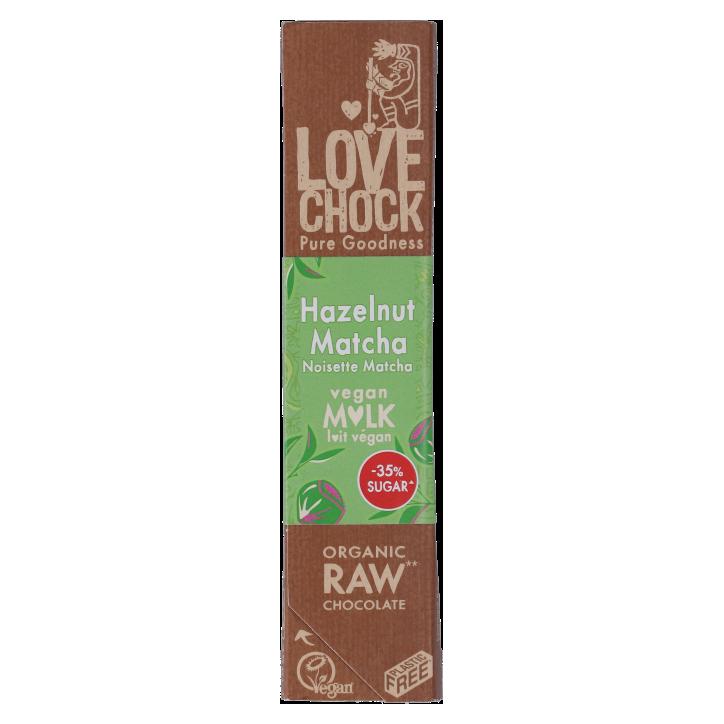 Lovechock Reep Raw Chocolate Creamy Hazelnut Matcha