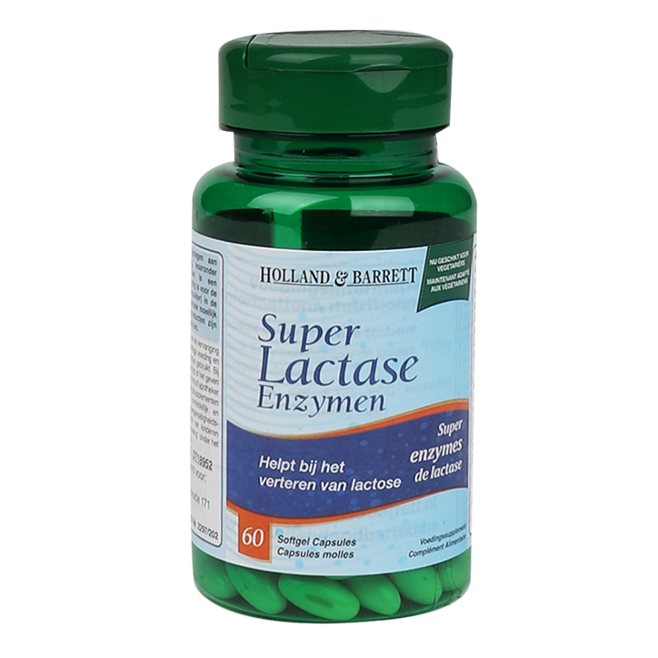 Holland & Barrett Super Lactase Enzymen (60 Capsules)