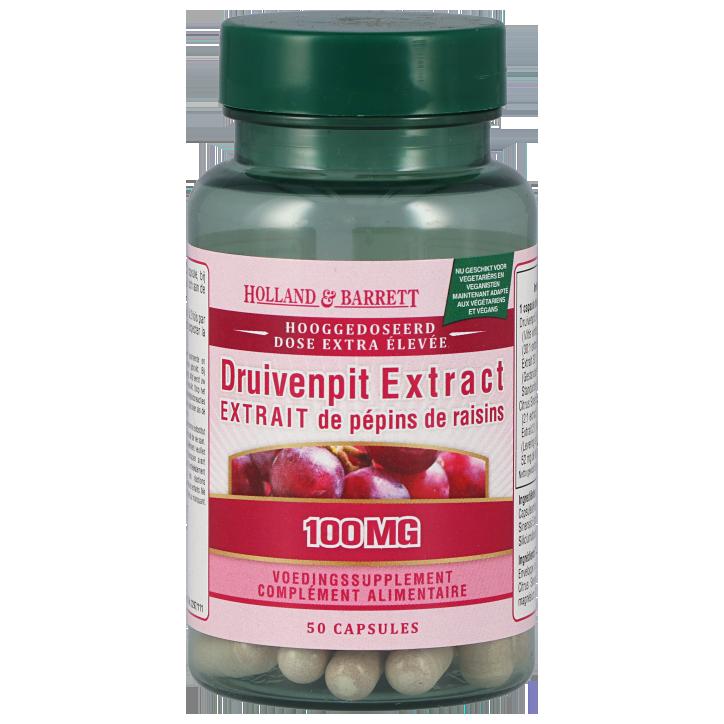 Holland & Barrett Druivenpit Extract, 100mg (50 Capsules)