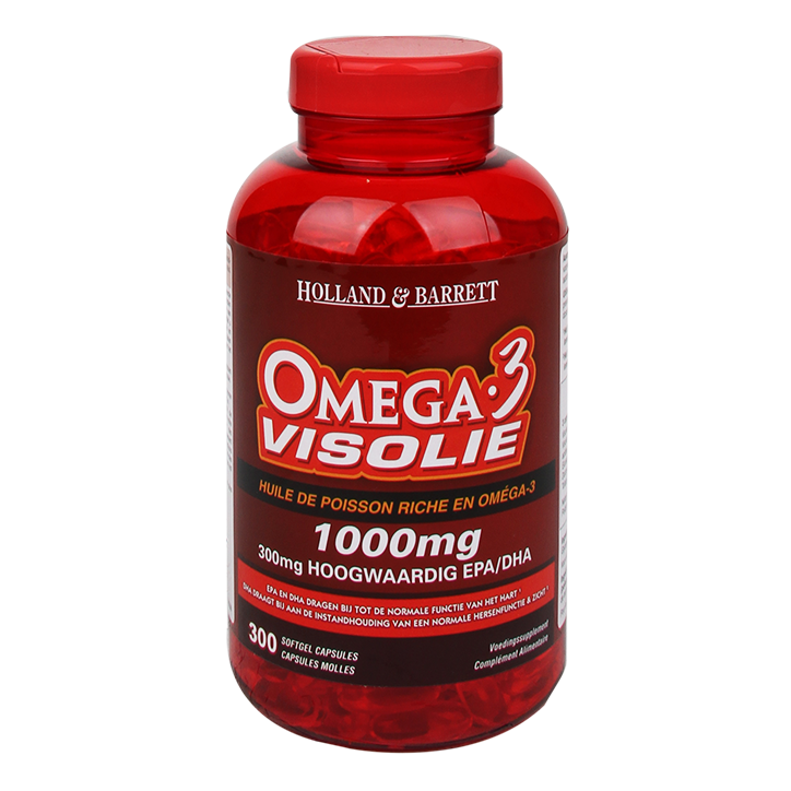 Holland & Barrett Omega 3 Visolie, 1000mg (300 Capsules)