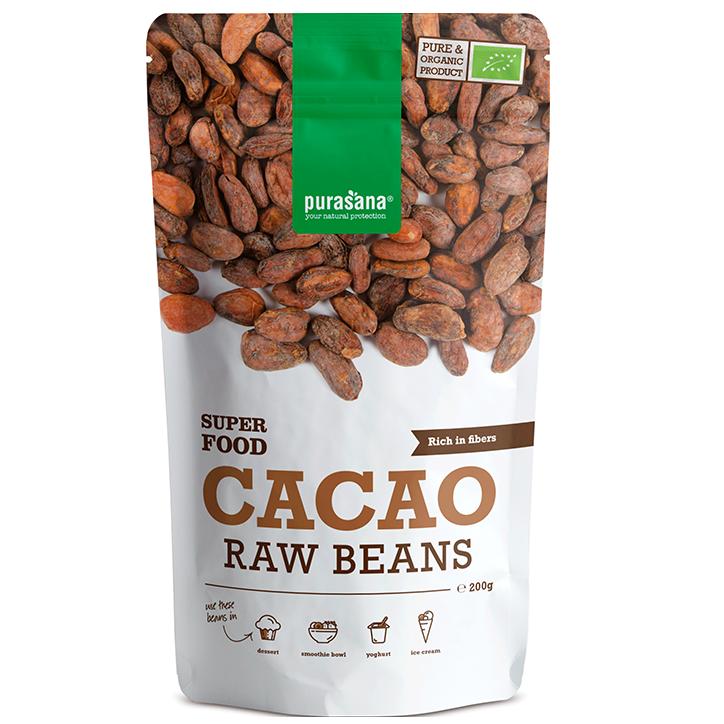 Purasana Raw Cacaobonen Bio (200gr)
