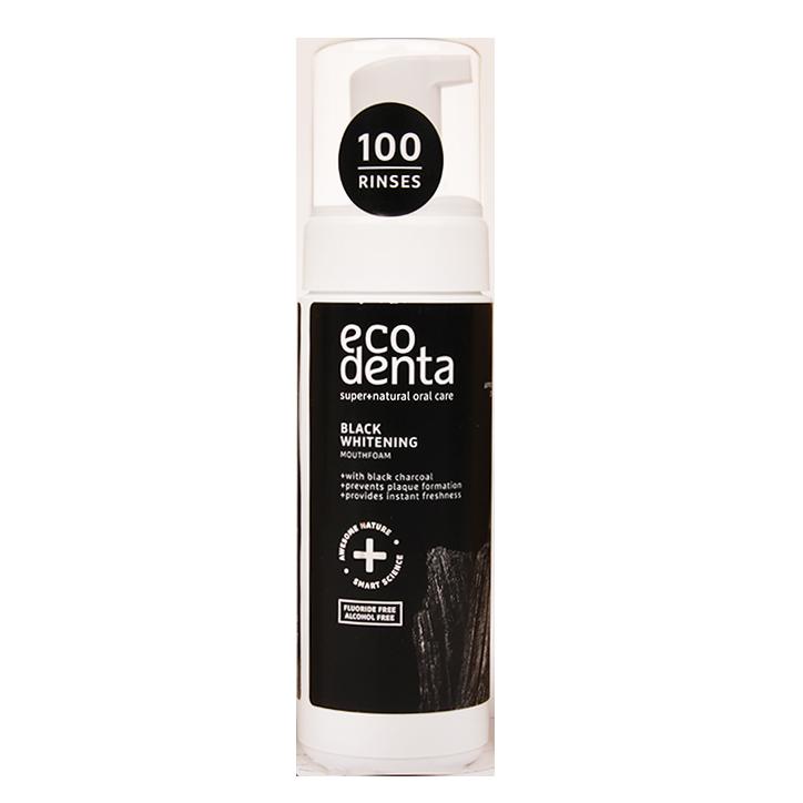Ecodenta Black Whitening Mouthfoam Houtskool (150ml)