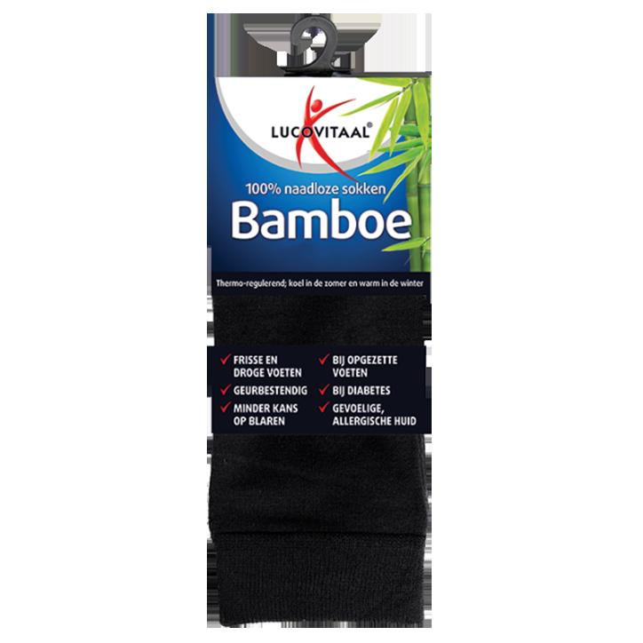 Lucovitaal Bamboe Sokken Zwart 43-46