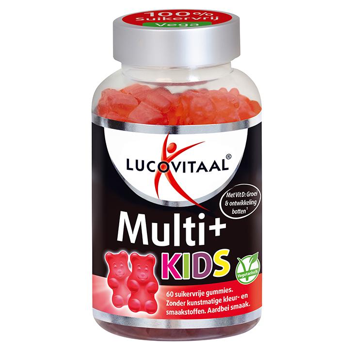 Lucovitaal Multi+ Kids Aardbei (60 Gummies)