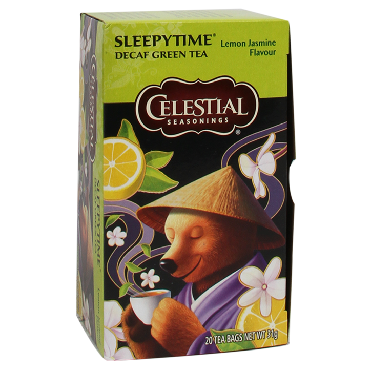 Celestial Seasonings Sleepytime Green Decaf Lemon Jasmin (20 Theezakjes)