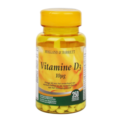 Holland & Barrett Vitamine D3, 10mcg (250 Tabletten)