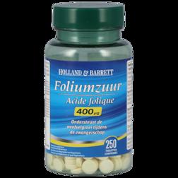 1+1 gratis | Holland & Barrett Foliumzuur, 400mcg (250 Tabletten)
