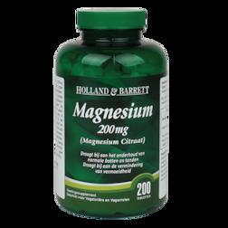Holland & Barrett Magnesium Citraat, 200mg (200 Tabletten)