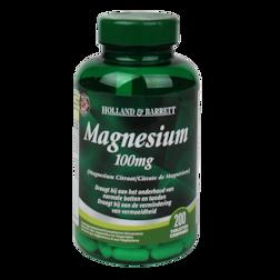 1+1 gratis | Holland & Barrett Magnesium Citraat, 100mg (200 Tabletten)