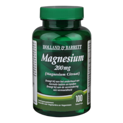 1+1 gratis | Holland & Barrett Magnesium Citraat, 200mg (100 Tabletten)