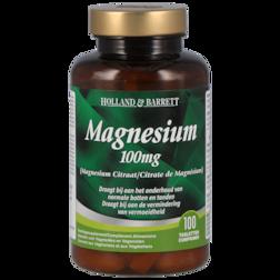 1+1 gratis | Holland & Barrett Magnesium Citraat, 100mg (100 Tabletten)