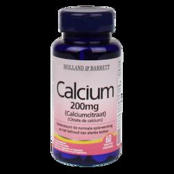 Holland & Barrett Calcium Citraat, 200mg (60 Tabletten)