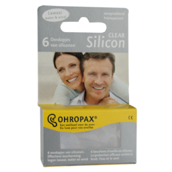 Ohropax Silicon Clear Oordopjes