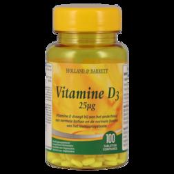 Holland & Barrett Vitamine D3, 25mcg (100 Tabletten)