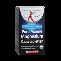 1+1 gratis | Lucovitaal Pure Marine Magnesium (30 Kauwtabletten)