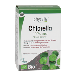 Physalis 100% Puur Chlorella Tabletten Bio (200 Tabletten)