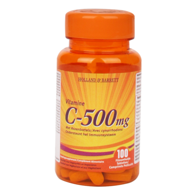Holland & Barrett Vitamine C, 500mg (100 Tabletten)
