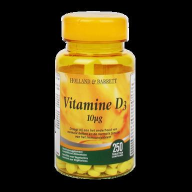 Holland & Barrett Vitamine D3 10 mcg 250 Comprimés