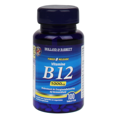 Holland & Barrett Vitamine B12 Timed Release, 1000mcg (100 Tabletten)