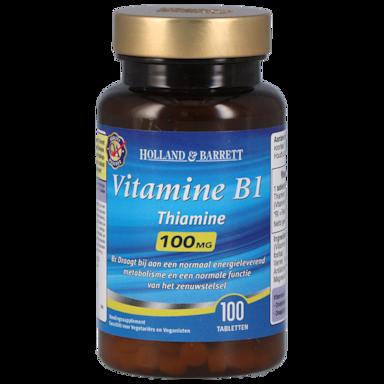 Holland & Barrett Vitamine B1, 100mg (100 Tabletten)