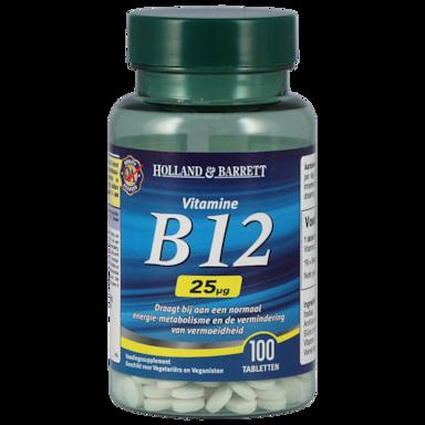 Holland & Barrett Vitamine B12, 25mcg (100 Tabletten)