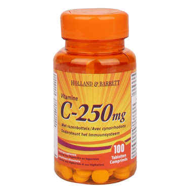 Holland & Barrett Vitamine C ,250mg (100 Tabletten)