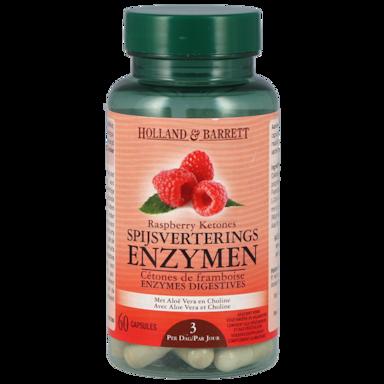 Holland & Barrett Raspberry Ketones Spijsverterings Enzymen (60 Capsules)