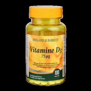 Holland & Barrett Vitamine D3, 75mcg (100 Tabletten)