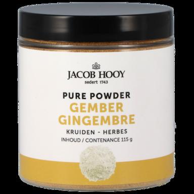 Jacob Hooy Gingembre en poudre 100 % pur (115 g)