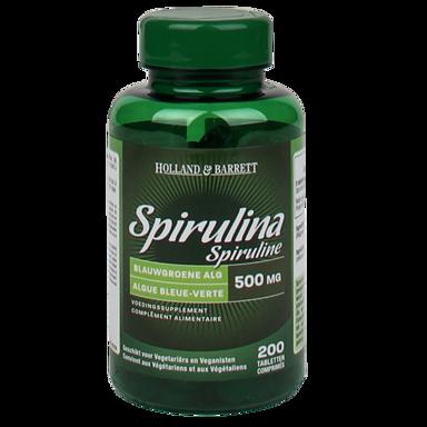 Holland & Barrett Spirulina, 500mg (200 Tabletten)