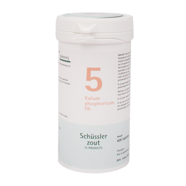 Schüssler Zout 5 Kalium Phosphoricum D6 (400 Tabletten)
